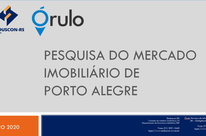 Sinduscon-RS e Órulo lançam nova pesquisa do mercado imobiliário de Porto Alegre