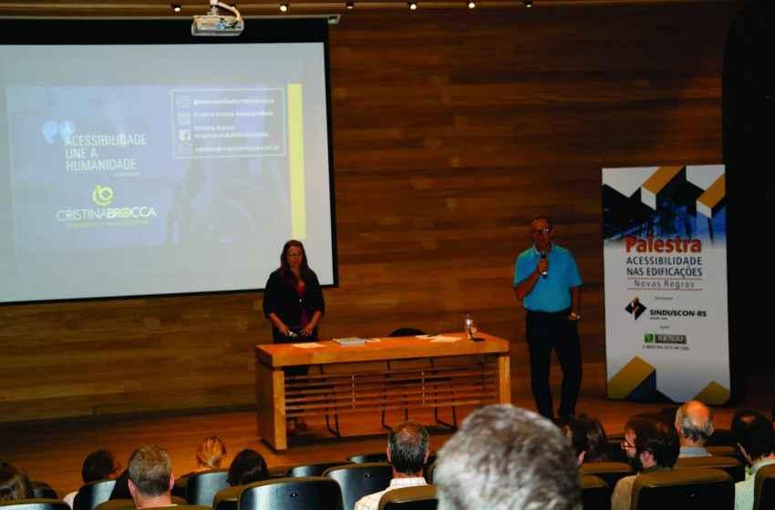 Sinduscon-RS promoveu palestra sobre acessibilidade nas edificações