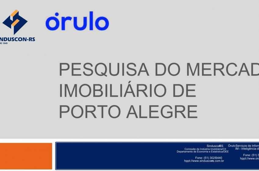 Desempenho nas vendas de imóveis novos residenciais em Porto Alegre é positivo em janeiro
