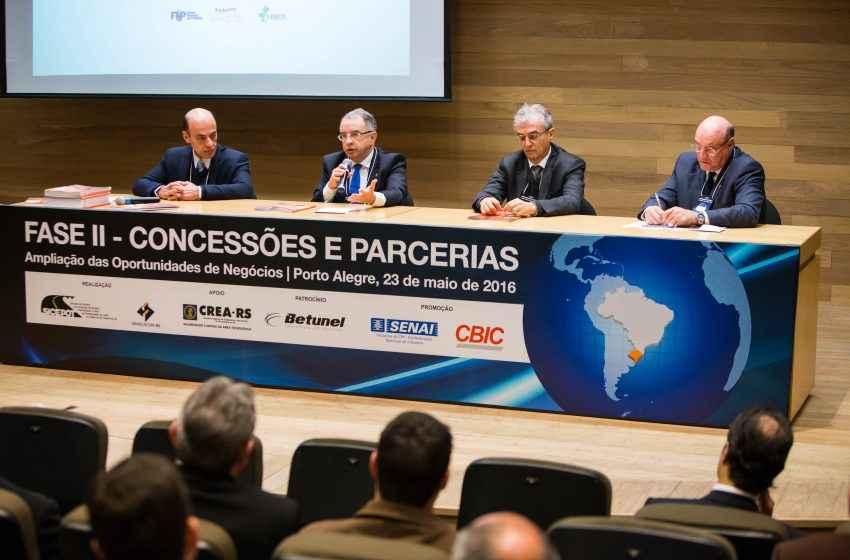 PPPS E Concessões viabilizarão investimentos necessários à retomada do crescimento