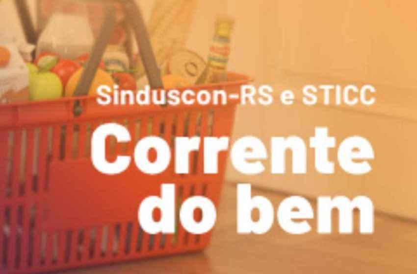 Sinduscon-RS e STICC entregam cestas básicas a trabalhadores da construção