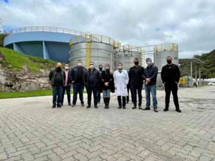 Grupo de Trabalho da construção civil visitam ETE em Gramado